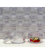 25 Cosmetic Jars BPA Free Plastic Beauty Makeup Lip Balm Containers 5 Gr... - $13.95