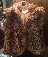 Sheared Rabbit Leopard Print Fur Reversible With Cocoa Brown On Other Si... - $588.00
