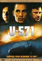 U-571 DVD 2000 Collectors Edition Jon Mostow Matthew McConaughey Bill Pa... - $10.00