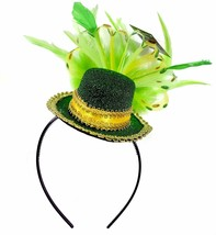 St Patrick Day Feathered Top Hat Headband Irish Costume Party Head Adult... - $11.18