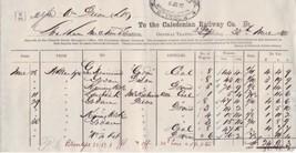 The Caledonian Railway Co. 1880 Glasgow Cancel General Traffic Invoice R... - $7.55