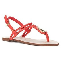 DV by Dolce Vita Women's Dixin Thong Sandal, Coral Leather Gold, Sz 10 - $80 - £16.71 GBP