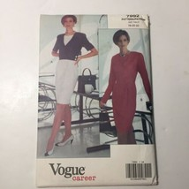 Vogue 7992 Size 18 20 22 Misses' Dress Mock Wrap  - $12.59