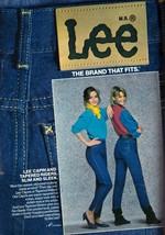 1984 Lee Tight Capri Jeans Clothing Apparel Fashion Sexy Vintage Print A... - $7.92