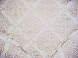 1-3/4Y THIBAUT EMBROIDERED ANDALUSIAN FLORAL MEDALLION DRAPERY UPHOLSTER... - $48.51