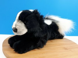 "Russ Yomiko Classics Skunk Plush White & Black Fluffy Tail Stuffed Animal 10"" - $16.63"