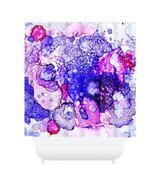 Shower curtains modern art shower curtain Abstract 26 pink blue art by L... - $69.99