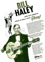 Bill Haley - Gibson Super 400 Guitar - 1957 - Promotional Advertising Poster - $9.99+