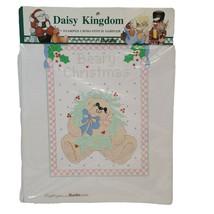 Vtg Bucilla Daisy Kingdom Stamped Cross Stitch Sampler Sp Ed Christmas 63441 NOS - $12.26