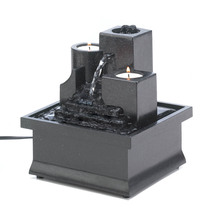Tabletop Water Fountain, Tier Table Indoor Wall Fountain, Polyresin - $24.03