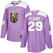 New Men's Vegas Golden Knights Fights Cancer #29 Marc-Andre Fleury Jerse... - $1.129,51 MXN