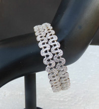 American Diamante Bangles Ethnic Indian Fashion Jewelry Party Wear Brace... - $19.48