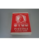 Deck of STUD Pinochle Linen Finish Playing Cards - $5.93