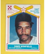 DAVE WINFIELD 1987 RALSTON PURINA NEW YORK YANKEES - $2.68