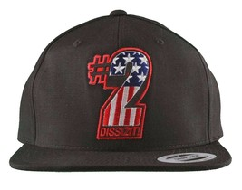 Dissizit! The Sh!t AMERICA #2 Two American Flag USA Snapback Baseball Hat NWT image 1