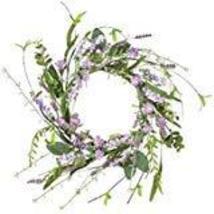 "Sullivans Artificial Lavender Candle Ring Wreath, 12"" image 12"