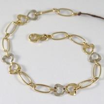 Armband Gelbgold Weiß 750 18K Mit Hearts Alternativen Und GehÄmmert, Herz - $494.79