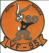 US Navy VF-95 Fighter Squadron Military Patch Royal Rogues - $11.87