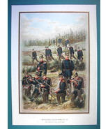 GERMAN ARMY 125th Regiment of Infantry (Wurtemberg) - COLOR Litho Print - $14.85