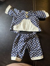 Vintage Cabbage Patch Kid clothes Outfit Handmade By Pro Blue Checkered - $4.99