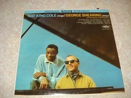 "Vintage Vinyl Record 12"" LP NAT KING COLE/GEORGE SHEARING STEREO NM - $19.79"