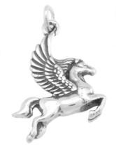 STERLING SILVER GREEK MYTHOLOGY PEGASUS CHARM / PENDANT - $12.64