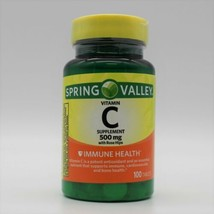 Spring Valley Vitamin C Supplement 500 mg With Rose Hips Immune Health 100 Tabs - $10.14