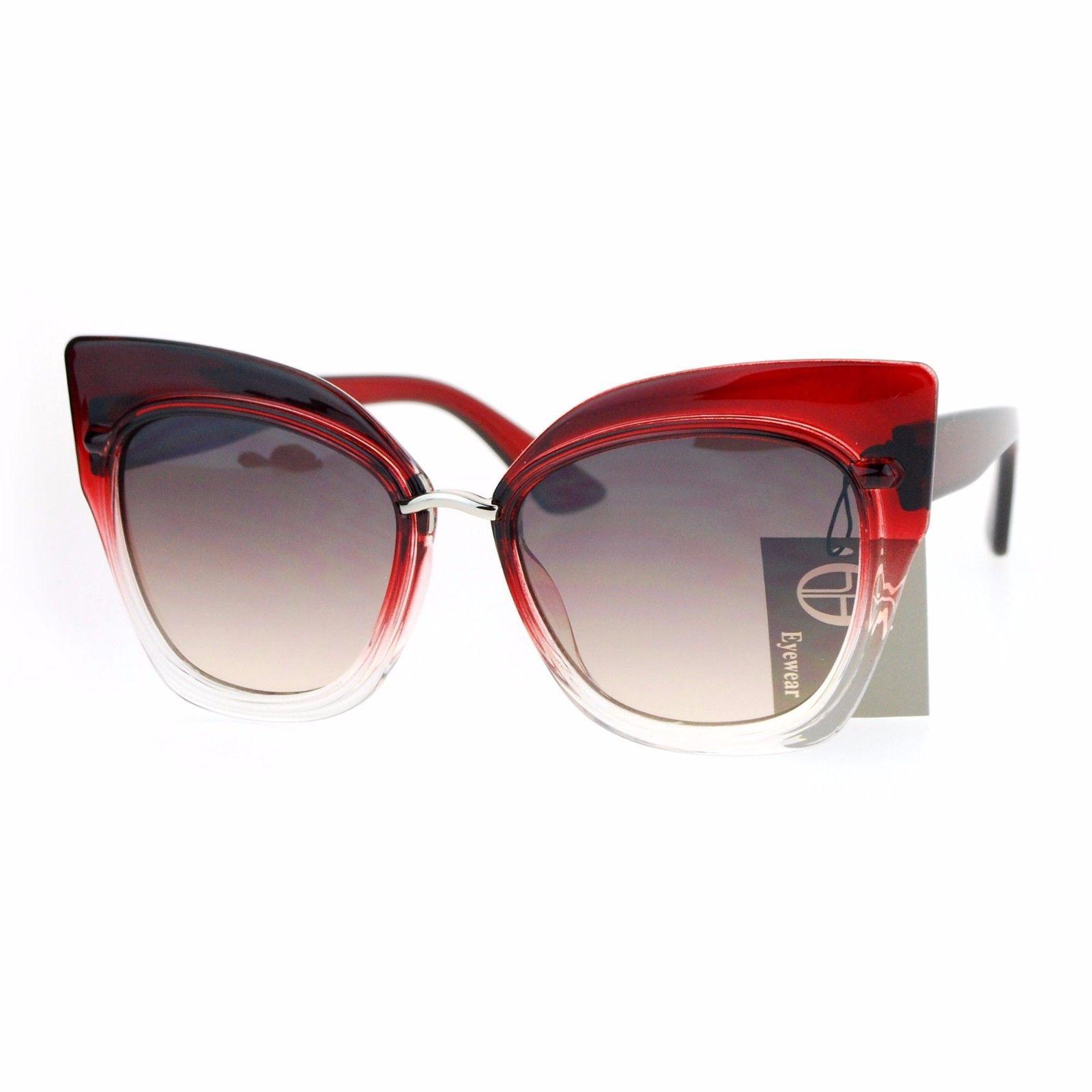 Oversized Fashion Sunglasses Womens Square Cateye Butterfly UV 400 image 3