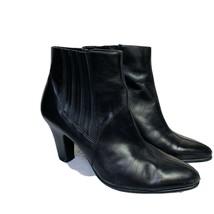 Aerosoles Women's Crisp N clean Ankle Boot, Black, Size 9.5 M Side Zip - $19.79