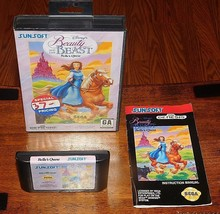 Beauty and the Beast Belle's Quest Sega Genesis Complete in Box + Book M... - $23.83