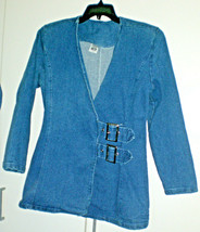 Vintage Womens Buckle Front Denim Jacket Size Small - $9.90