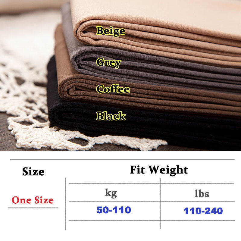 240lbs Plus Size Pantyhose Women Men High Waist Velvet Elastic Tights Stockings