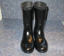 UGG Black RAANA Waterproof Rain Boot, S/N 1014340k Kids Size 1 - $35.00