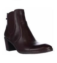 New Women's Anne Klein Bunty Chelsea Dark Brown Leather Boots Size 10 MSRP $119 - $60.78