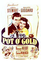 James Stewart and Paulette Goddard in Pot o' Gold 16x20 Canvas Giclee - $69.99