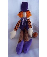"Primitive Country Folk Art Halloween WITCH Raggedy Doll 21"" - $18.57"