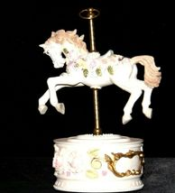 Horse Carousel Music Box (1980's) Works AA18-1631 Vintage image 10