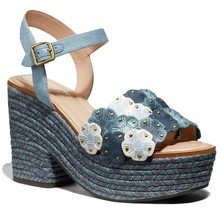 Coach Jae Leather Peep Toe Casual Ankle Strap Sandals Size 5.5 - $247.50