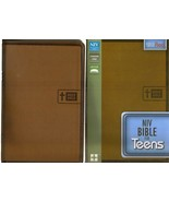 NIV Bible for Teens,Thin Line Brown Duo-tone Lay-Flat Red Letter NEW in Box - $59.39