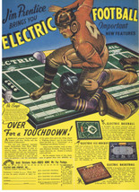 1940 JIM PRENTICE Electric Football & other games Holyoke, Mass COLOR Pr... - $9.99