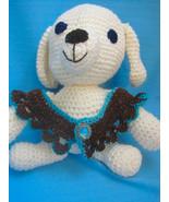 Pet Ruffle Collar Dog Cat Brown/Copper/Aqua Handmade Crochet by Bren - $22.00