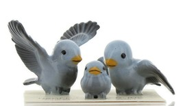 Hagen Renaker Miniature Bluebird Family Ceramic Figurine Set of 3