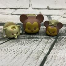 Disney Tsum Tsum Vinyl Figures Lot Mickey Minnie Dumbo Brown Gold Toned - $13.86