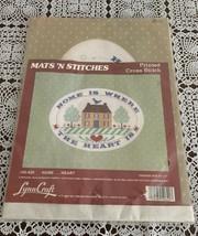 Brand New Lynn Craft Mats N Stitch Printeded Cross Stitch House Sampler ... - $11.49