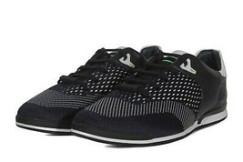 Hugo Boss Men's Premium Sport Leather Sneakers Shoes Saturn Lowp Navy