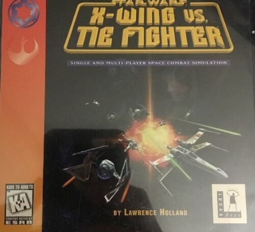 Primary image for Star Wars-X Wing Vs Cravatta Fighter-Pc CD ROM Video Game-Tested-Rare-Ships N 24