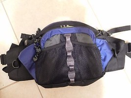 Bag LL BEAN  Lg Waist Lumbar Hip Fanny Pouch Hiking Biking Navy/Black EU... - $30.59