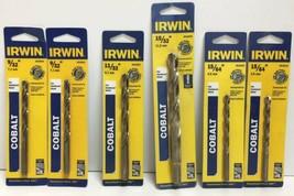 """(New) Irwin  9/32"""", 11/32"""", 15/32"""", 15/64"""" Cobalt Drill Bits Set - $37.61"""