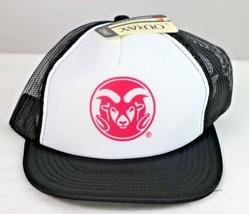 Colorado State Rams NCAA White/Black Foam Front Mesh Back Trucker Cap Hat OS - $24.74