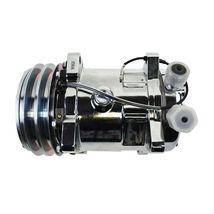 A-Team Performance Sanden 508 Style Silver Clutch V-Belt A/C Compressor, Chrome image 4